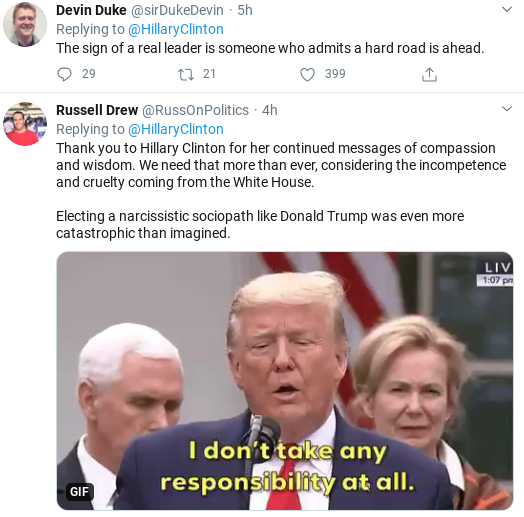Screenshot-2020-03-30-at-5.11.33-PM Hillary Bypasses Trump With Covid-19 Leadership Message To Voters Donald Trump Politics Social Media Top Stories