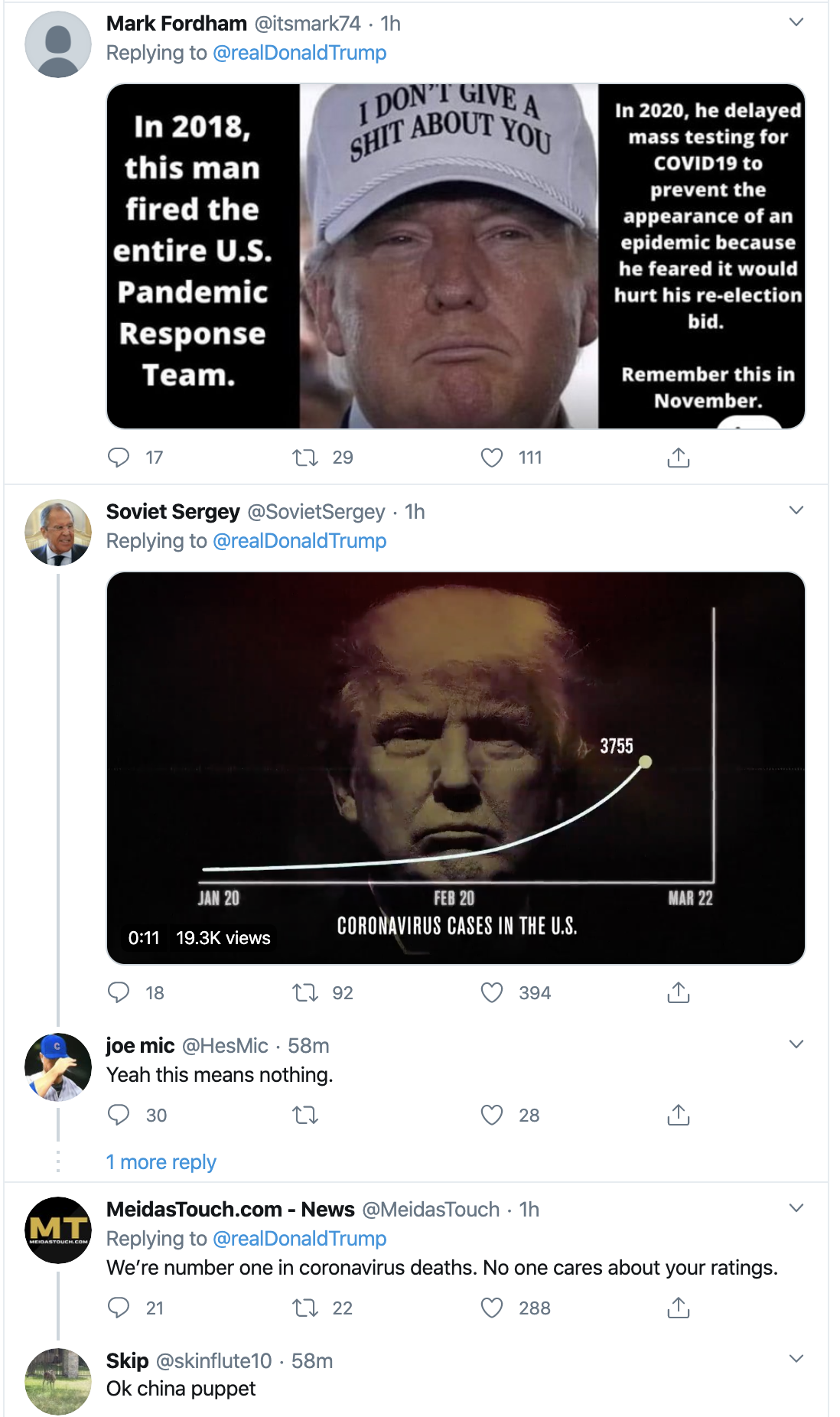Screen-Shot-2020-04-08-at-10.45.03-AM Trump Thanks Warren For Knocking Bernie Out Of Race Donald Trump Election 2020 Politics Top Stories Twitter