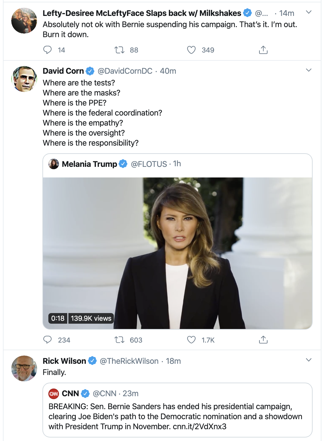 Screen-Shot-2020-04-08-at-10.46.30-AM Trump Thanks Warren For Knocking Bernie Out Of Race Donald Trump Election 2020 Politics Top Stories Twitter