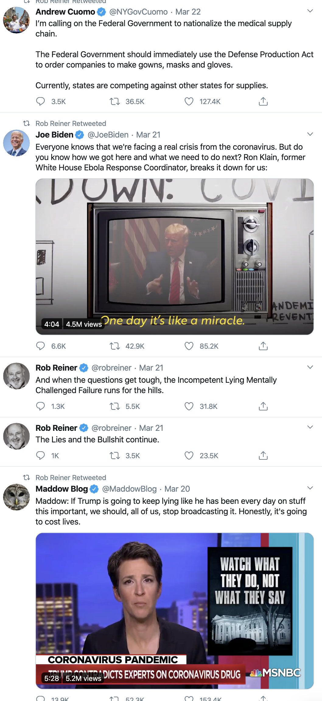 Screen-Shot-2020-04-08-at-7.00.57-AM Trump Celebrates On Twitter As Americans Die Election 2020 Featured Healthcare Politics Top Stories