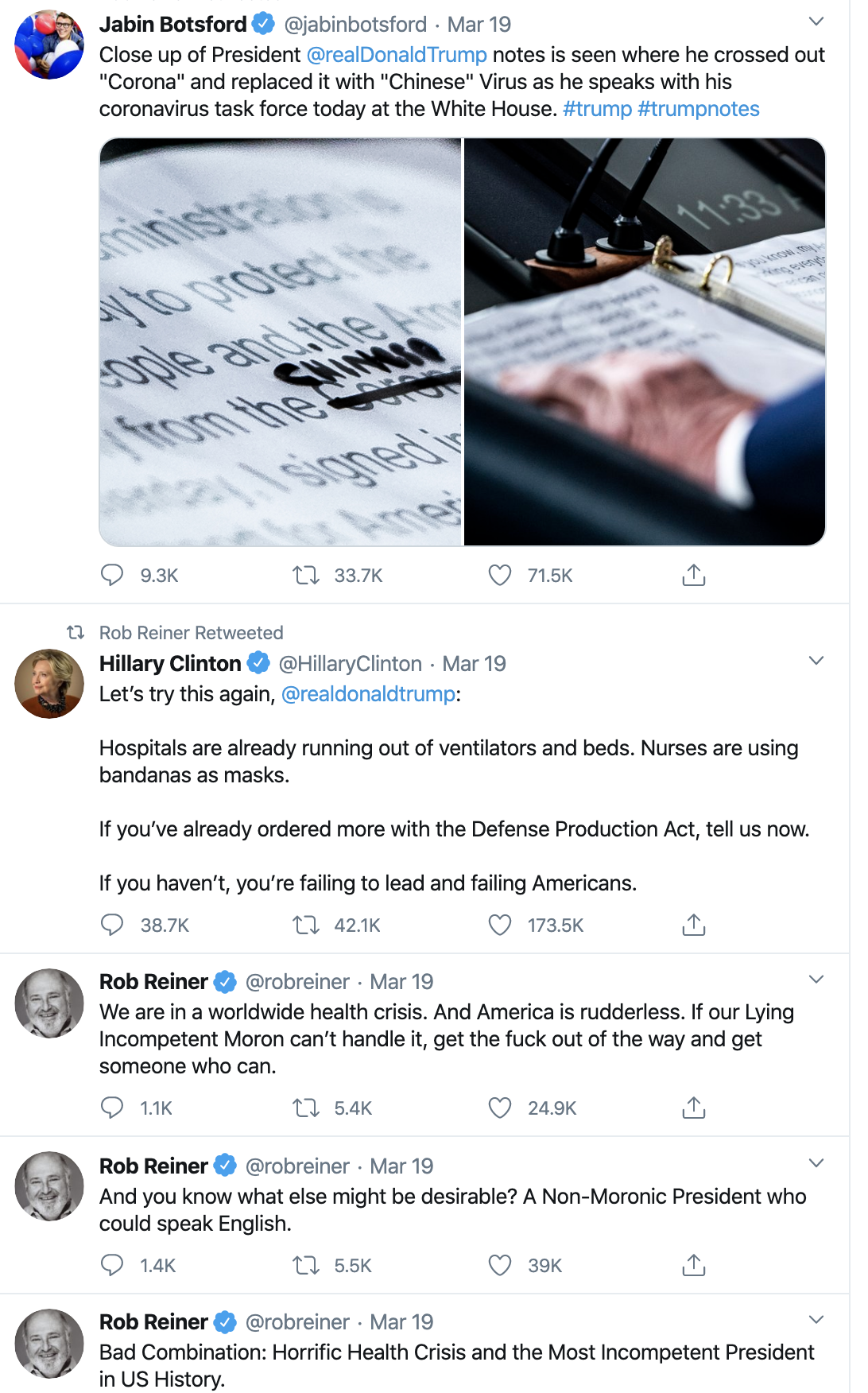 Screen-Shot-2020-04-08-at-7.01.22-AM Trump Celebrates On Twitter As Americans Die Election 2020 Featured Healthcare Politics Top Stories