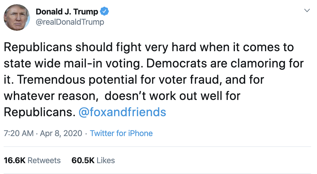 Screen-Shot-2020-04-08-at-9.12.28-AM Trump Posts Manic Tweet About COVID Affects On Election Election 2020 Featured Healthcare Politics Top Stories