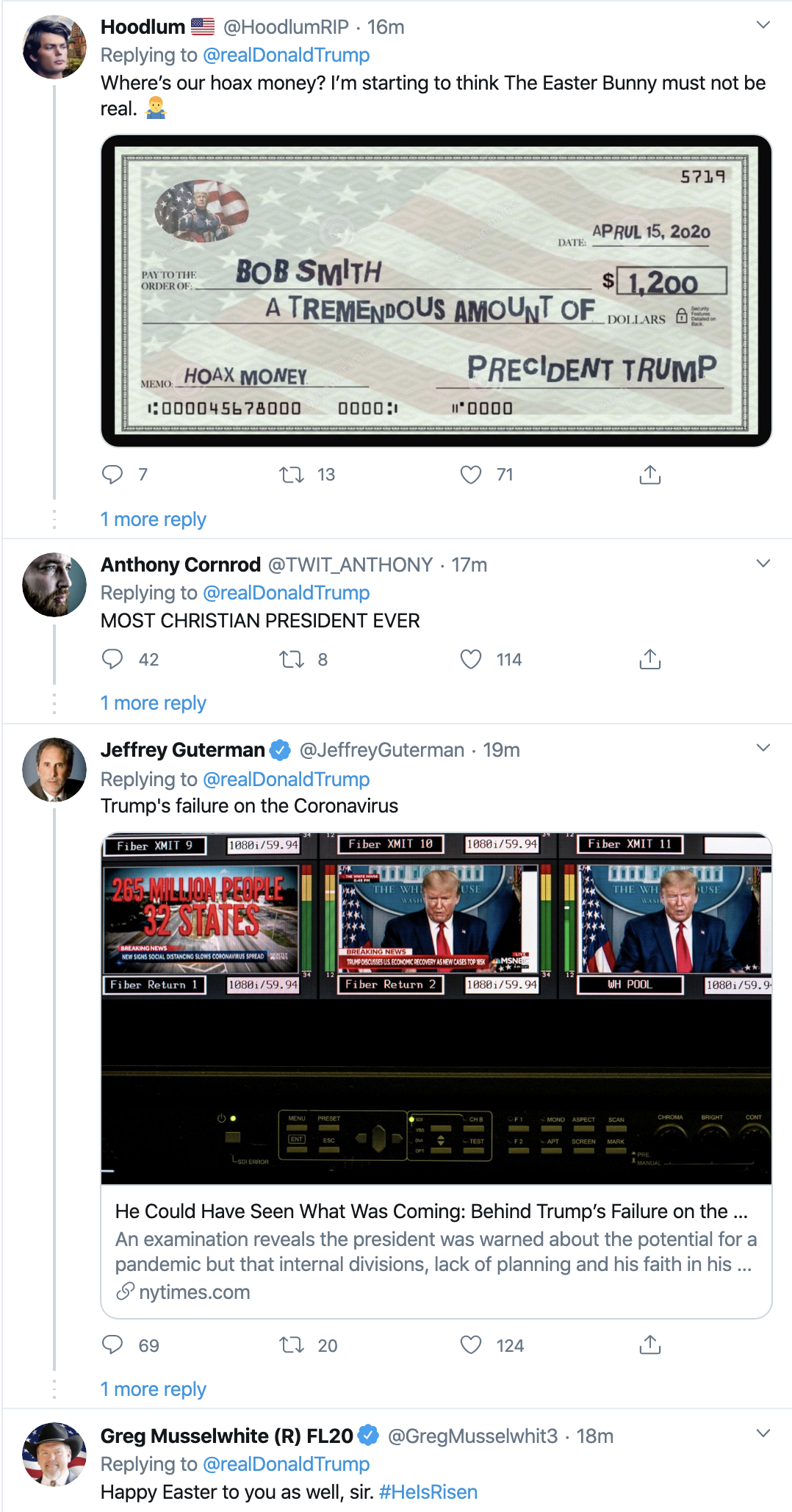 Screen-Shot-2020-04-12-at-7.26.03-AM Trump Tweets Laughable Easter Morning Message Donald Trump Election 2020 Featured Politics Top Stories