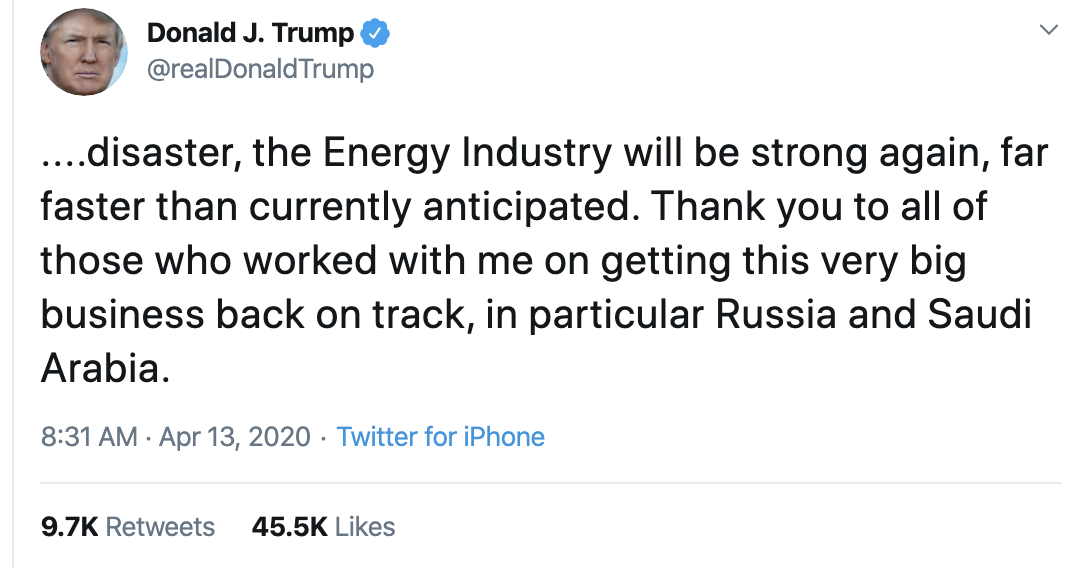 Screen-Shot-2020-04-13-at-10.55.20-AM Trump Obsesses Over Oil Industry On Twitter Corruption Donald Trump Economy Featured Top Stories