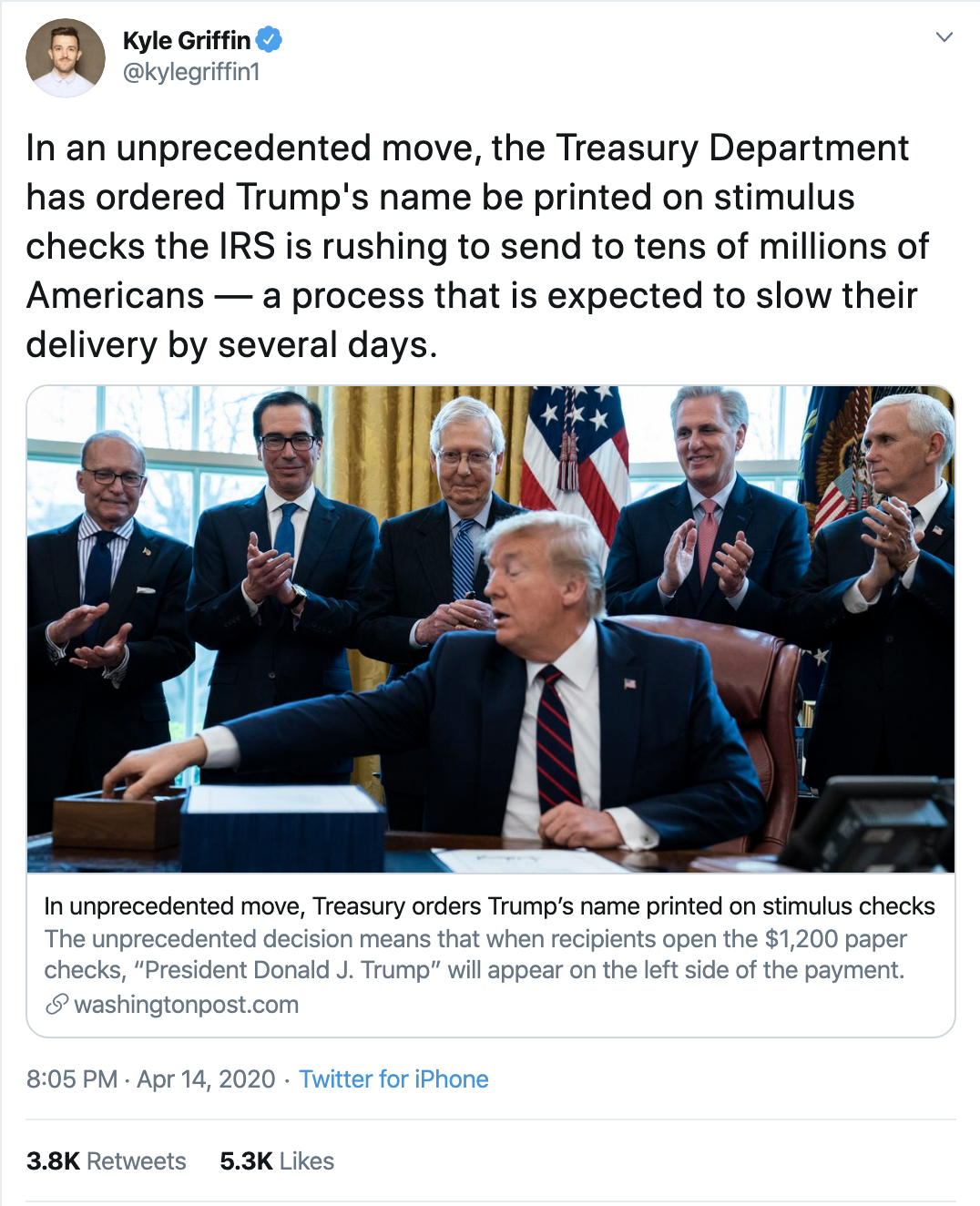 Screen-Shot-2020-04-15-at-10.28.03-AM Schiff Chides Trump For Shameful Signature On Check Stunt Corruption Featured Healthcare Politics Top Stories