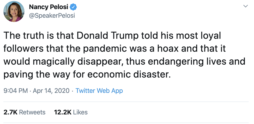 Screen-Shot-2020-04-15-at-8.44.02-AM Pelosi Devastates Trump During 7-Tweet Coronavirus Failure Take-Down Donald Trump Featured Healthcare Politics Top Stories