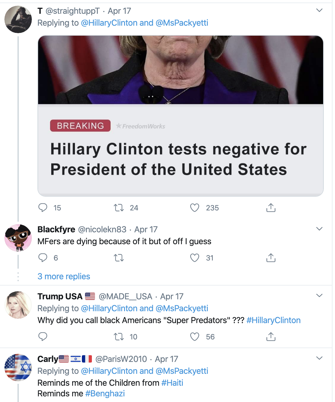 Screen-Shot-2020-04-19-at-8.22.48-AM Hillary Clinton Exposes Trump's Failed Corona Response For Black Americans Featured Healthcare Politics Racism Top Stories