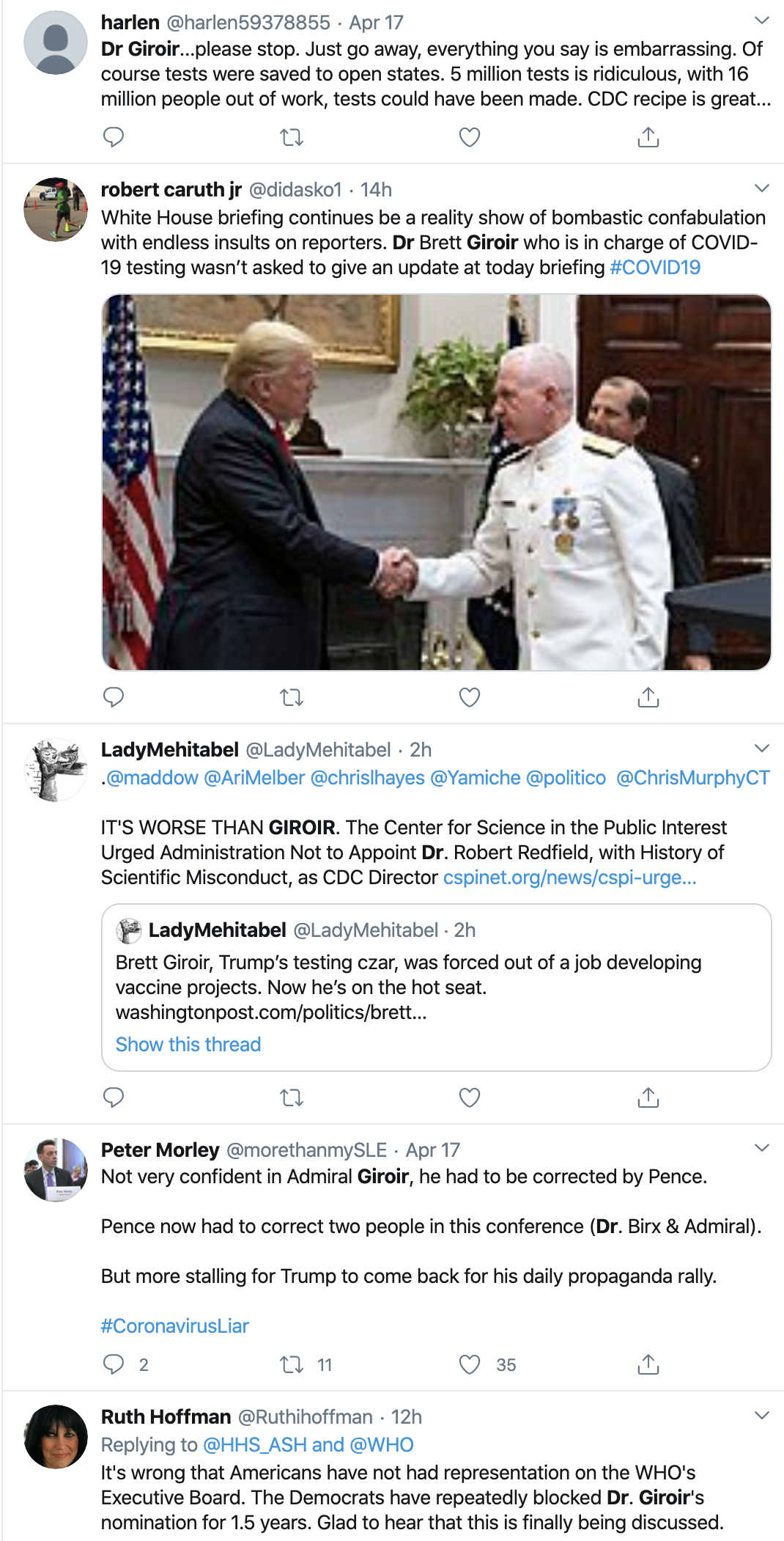 Screen-Shot-2020-04-20-at-10.37.29-AM Dirt Uncovered About Trump's New Virus Testing Czar Corruption Featured Healthcare Politics Top Stories