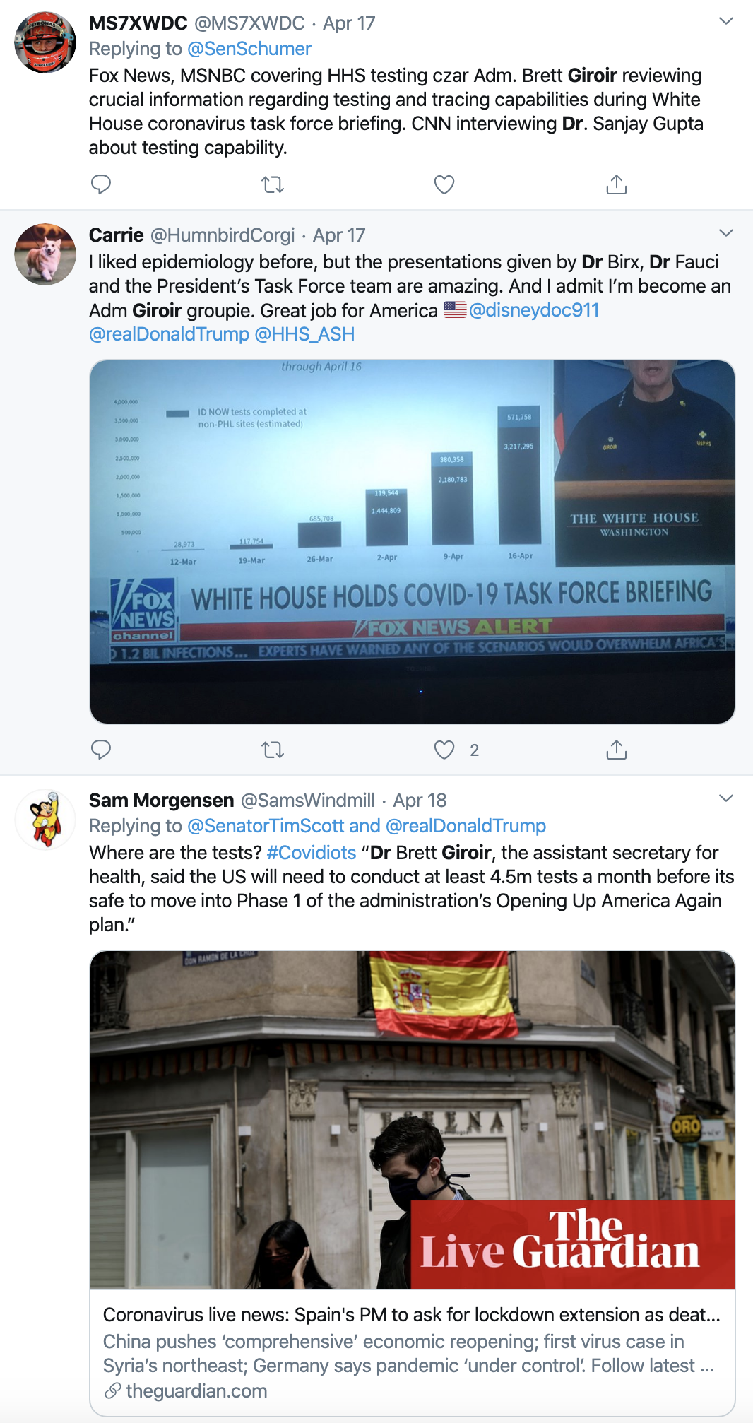 Screen-Shot-2020-04-20-at-10.38.07-AM Dirt Uncovered About Trump's New Virus Testing Czar Corruption Featured Healthcare Politics Top Stories