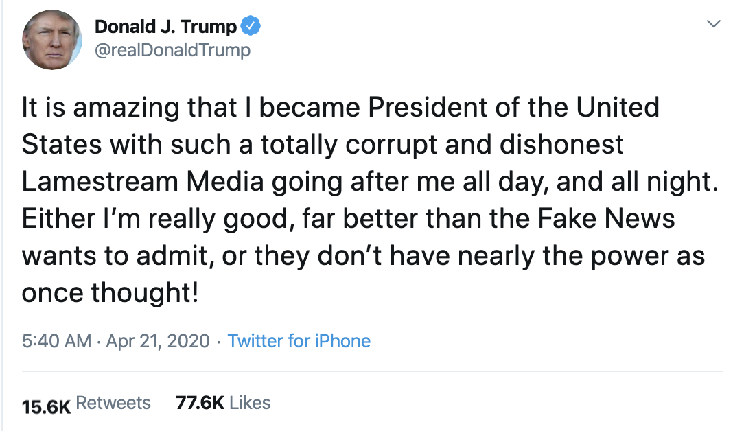 Screen-Shot-2020-04-21-at-7.10.20-AM Trump Launches Morning War Of Words On Twitter Election 2020 Featured Healthcare Politics Top Stories