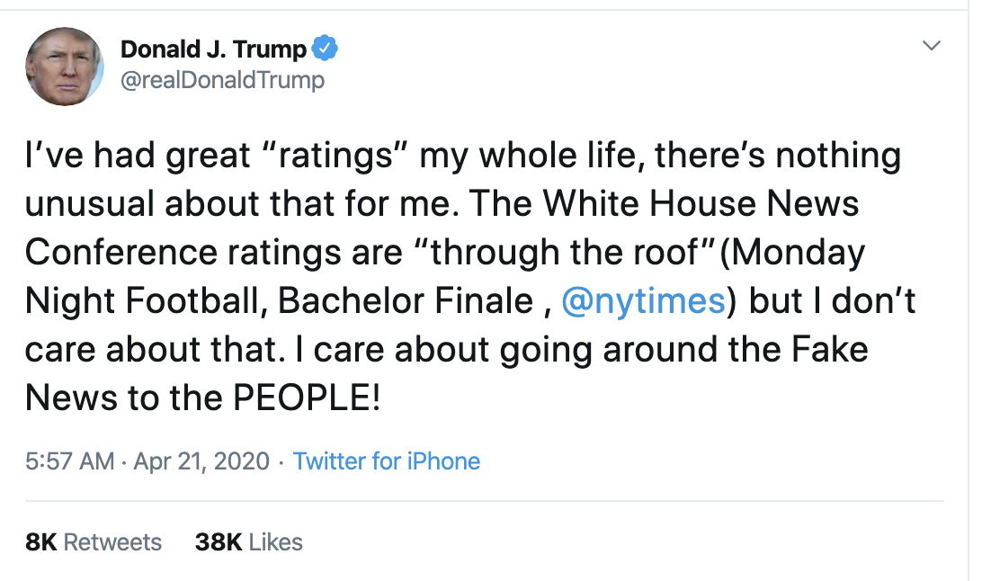 Screen-Shot-2020-04-21-at-7.10.58-AM Trump Launches Morning War Of Words On Twitter Election 2020 Featured Healthcare Politics Top Stories