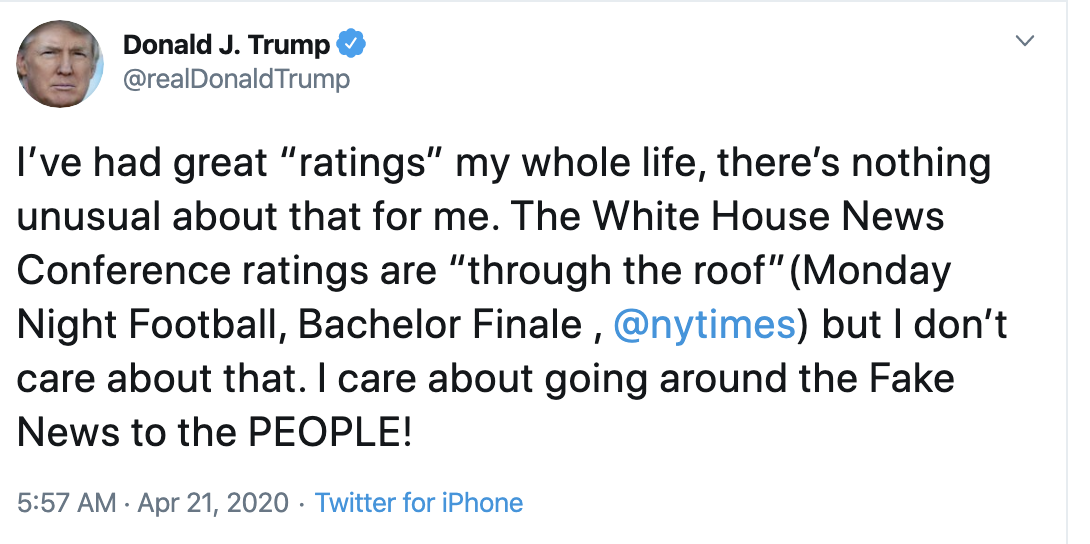 Screen-Shot-2020-04-21-at-8.56.12-AM Twitter Icon Rips Trump For Bragging As COVID-19 Kills 42,000 Election 2020 Featured Healthcare Politics Top Stories