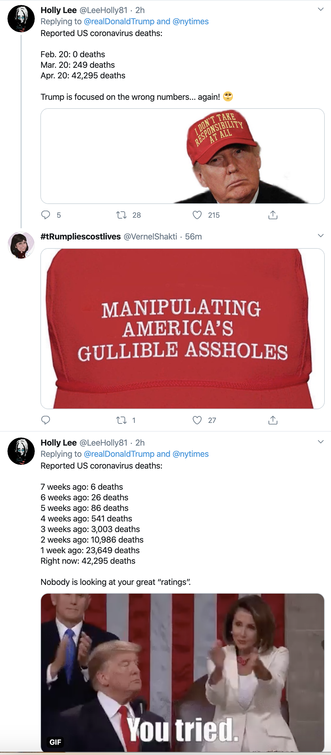Screen-Shot-2020-04-21-at-9.13.15-AM Twitter Icon Rips Trump For Bragging As COVID-19 Kills 42,000 Election 2020 Featured Healthcare Politics Top Stories