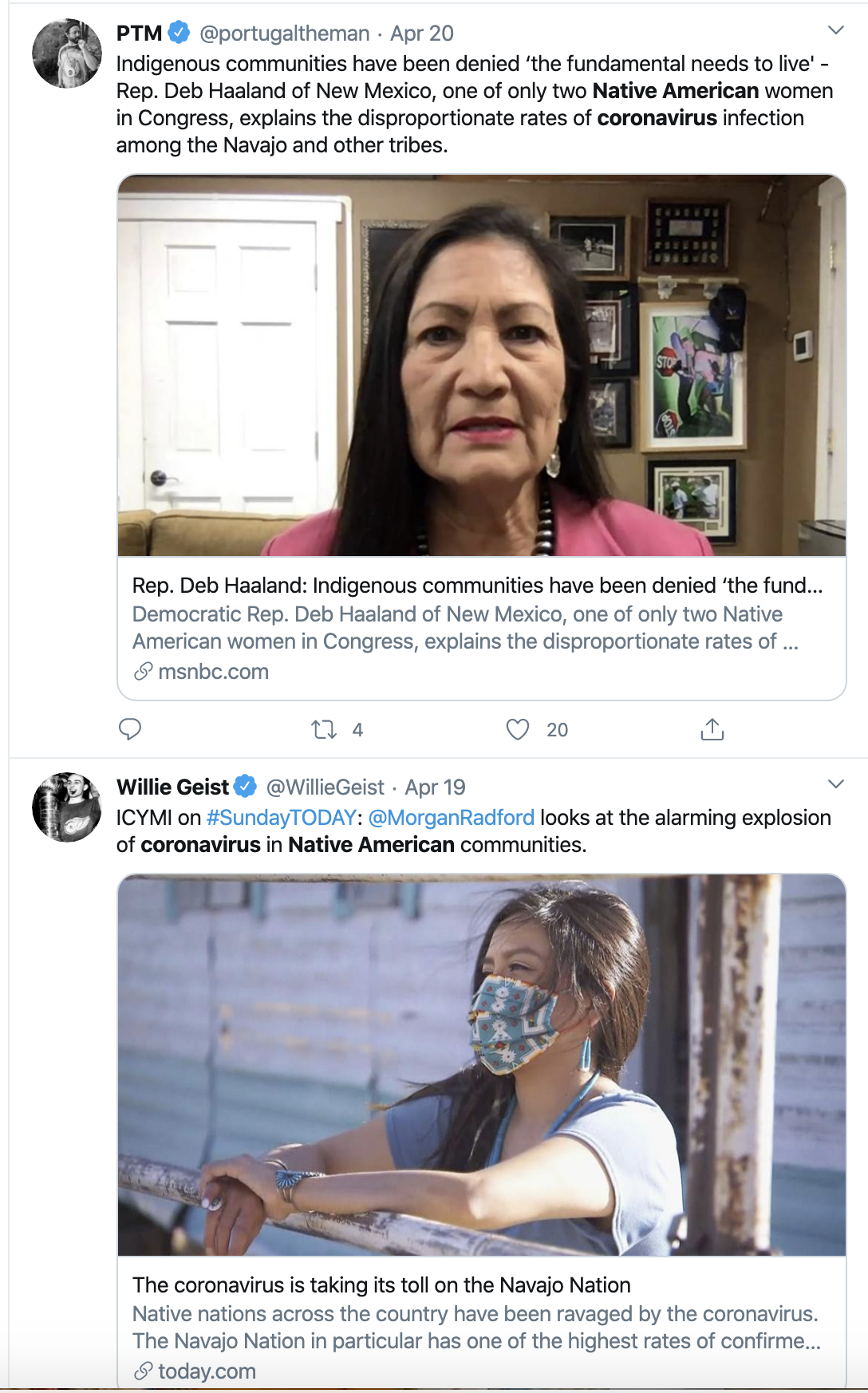 Screen-Shot-2020-04-23-at-2.53.57-PM 11 Native Tribes Sue Trump Over Coronavirus Response Featured Healthcare Politics Racism Top Stories