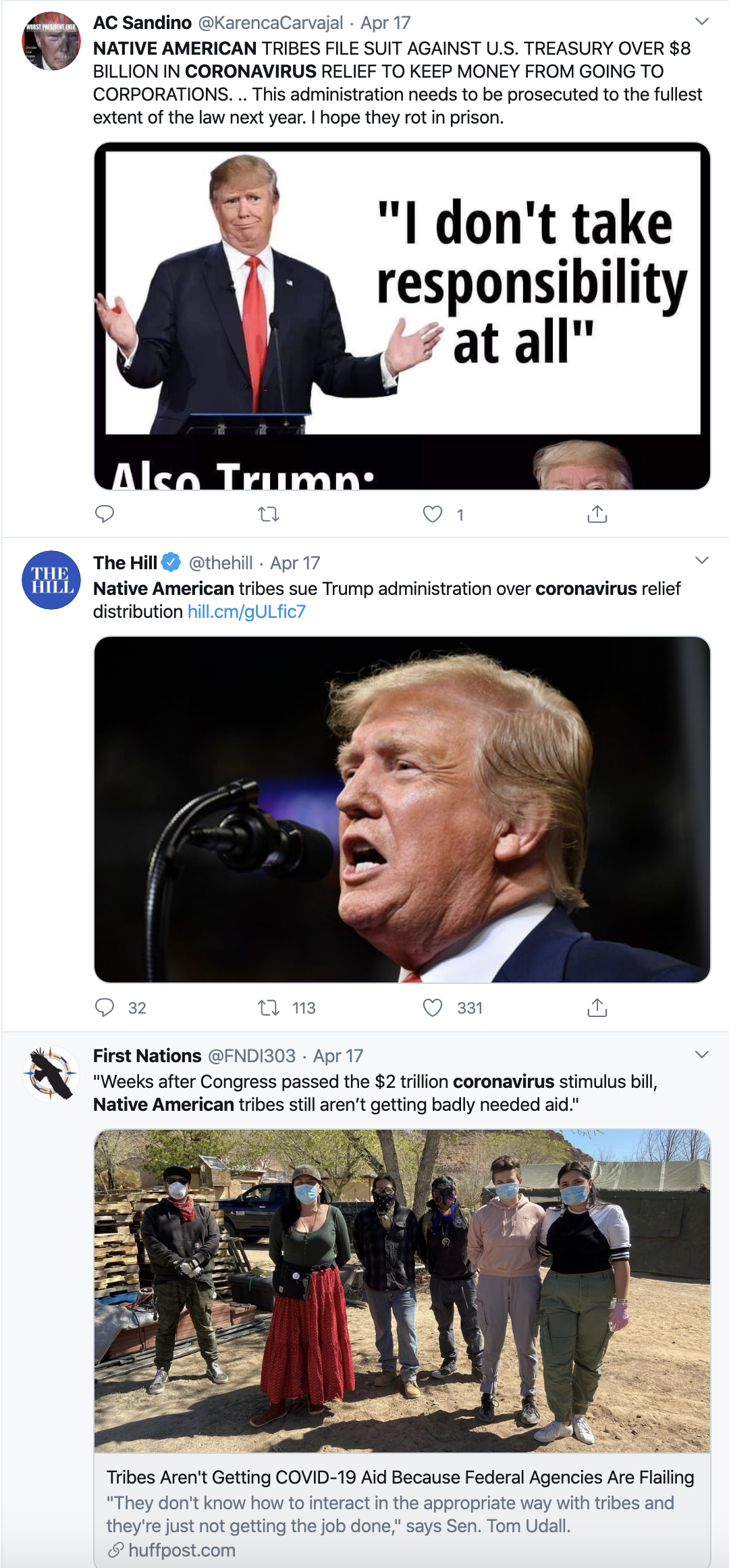 Screen-Shot-2020-04-23-at-2.54.14-PM 11 Native Tribes Sue Trump Over Coronavirus Response Featured Healthcare Politics Racism Top Stories