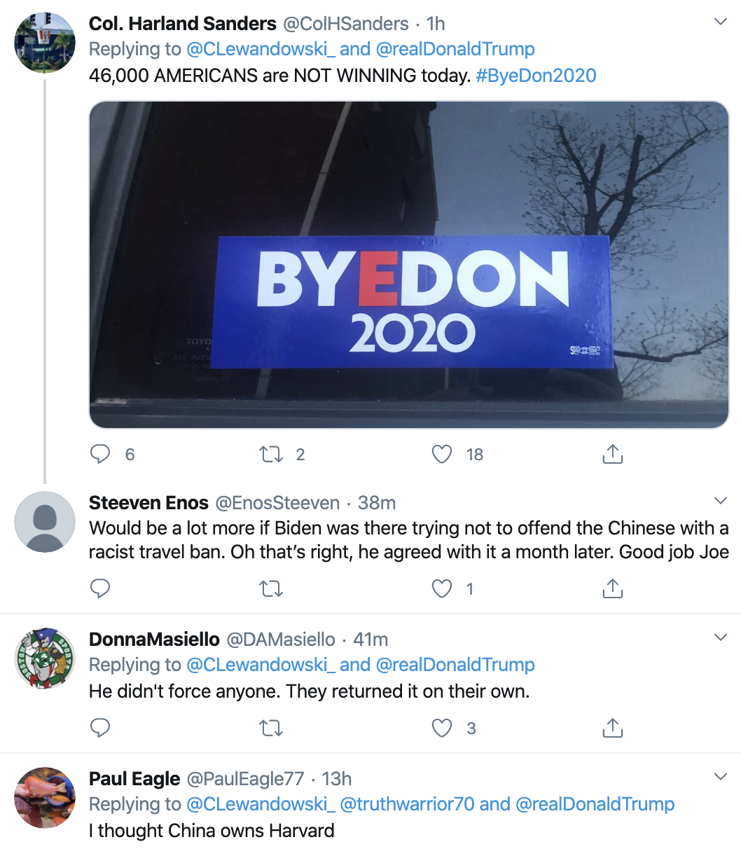 Screen-Shot-2020-04-23-at-8.55.02-AM Trump Tweets Jab At Harvard After 'Forcing' Them To Return Stimulus Economy Featured Healthcare Politics Top Stories