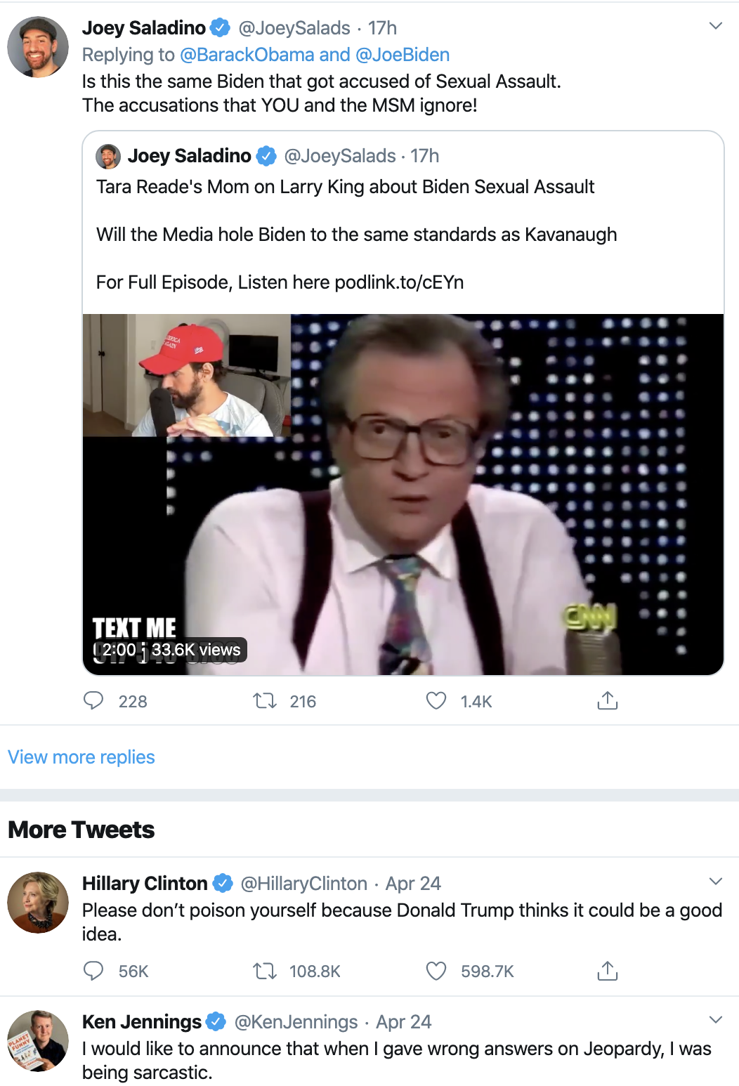 Screen-Shot-2020-04-26-at-9.26.00-AM Obama Tweets Updated Weekend 2020 Endorsement Like A Real Leader Election 2020 Featured Healthcare Politics Top Stories