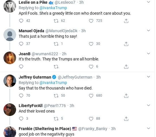 Screenshot-2020-04-01-at-12.15.10-PM Ivanka Tweets Phony Coronavirus Message & Suffers Swift Embarrassment Donald Trump Politics Social Media Top Stories