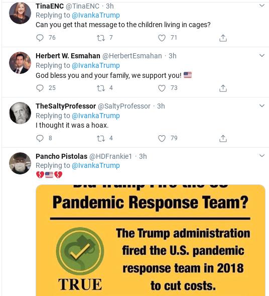 Screenshot-2020-04-01-at-12.16.36-PM Ivanka Tweets Phony Coronavirus Message & Suffers Swift Embarrassment Donald Trump Politics Social Media Top Stories