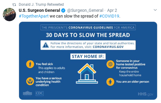 Screenshot-2020-04-04-at-10.28.44-AM Trump Goes On Lengthy Retweet Spree As Pandemic Spreads Donald Trump Politics Social Media Top Stories