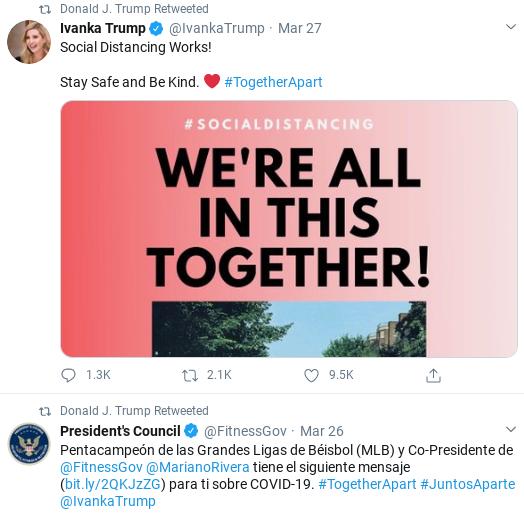 Screenshot-2020-04-04-at-10.29.38-AM Trump Goes On Lengthy Retweet Spree As Pandemic Spreads Donald Trump Politics Social Media Top Stories