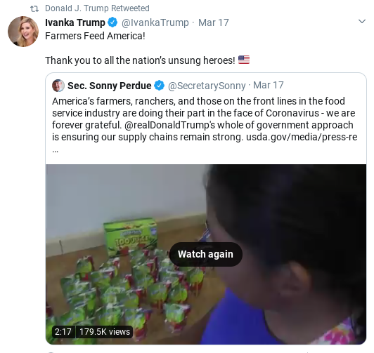 Screenshot-2020-04-04-at-10.32.24-AM Trump Goes On Lengthy Retweet Spree As Pandemic Spreads Donald Trump Politics Social Media Top Stories