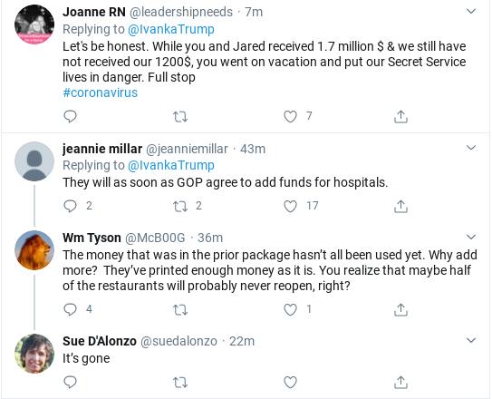 Screenshot-2020-04-19-at-11.31.26-AM Ivanka's Attempt To Tweet About Coronavirus Relief Goes Horribly Wrong Donald Trump Politics Social Media Top Stories