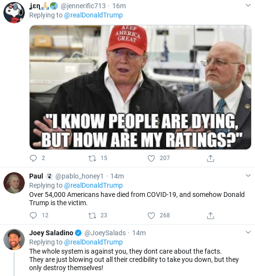 Screenshot-2020-04-26-at-2.54.15-PM Trump Finishes Sunday Shows & Suffers 6-Tweet Emotional Collapse Donald Trump Politics Social Media Top Stories