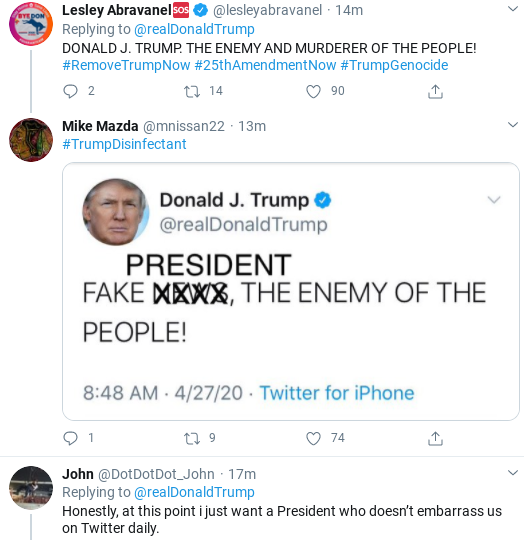 Screenshot-2020-04-27-at-10.06.20-AM Trump Tweets Unhinged Threatening Screed Against Media Donald Trump Politics Social Media Top Stories