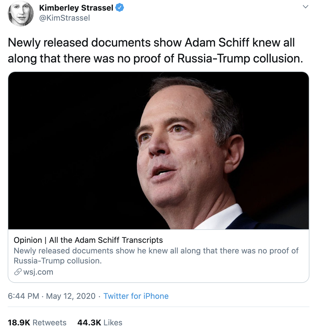 Screen-Shot-2020-05-13-at-8.55.39-AM Schiff Trolls Trump Over 'Russian Help' With Fact-Check Of GOP Lies Crime Featured Politics Russia Top Stories