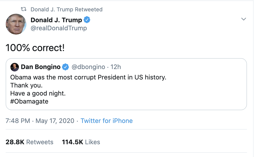 Screen-Shot-2020-05-18-at-7.44.51-AM Trump Unleashes Multiple Monday A.M. Tweets In ALL CAPS Coronavirus Election 2020 Featured Politics Top Stories