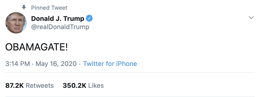 Screen-Shot-2020-05-18-at-7.46.49-AM Trump Unleashes Multiple Monday A.M. Tweets In ALL CAPS Coronavirus Election 2020 Featured Politics Top Stories