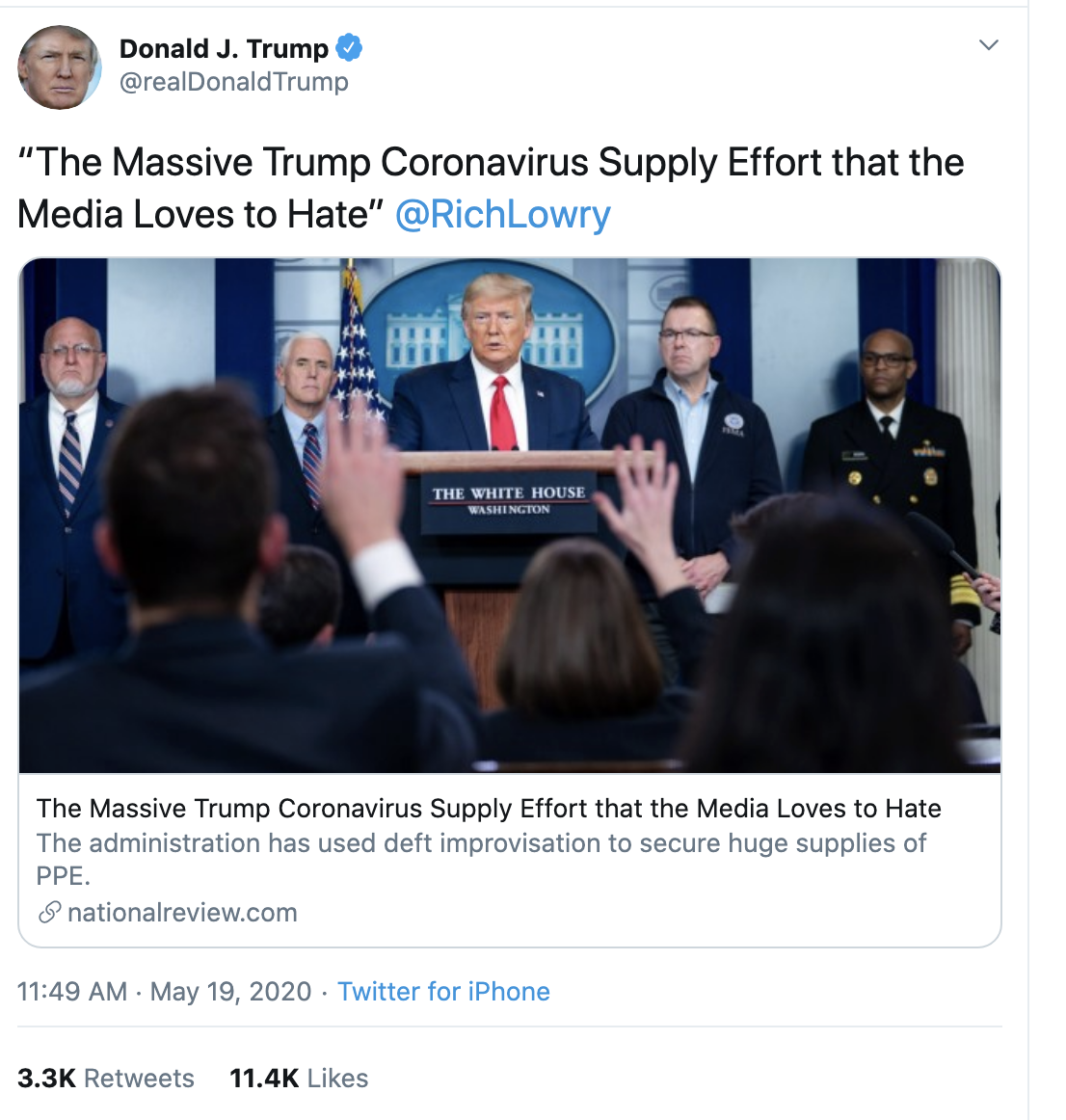 Screen-Shot-2020-05-19-at-12.36.42-PM Trump Delivers More Unnerving Tuesday Afternoon Tweets Coronavirus Election 2020 Featured Politics Top Stories
