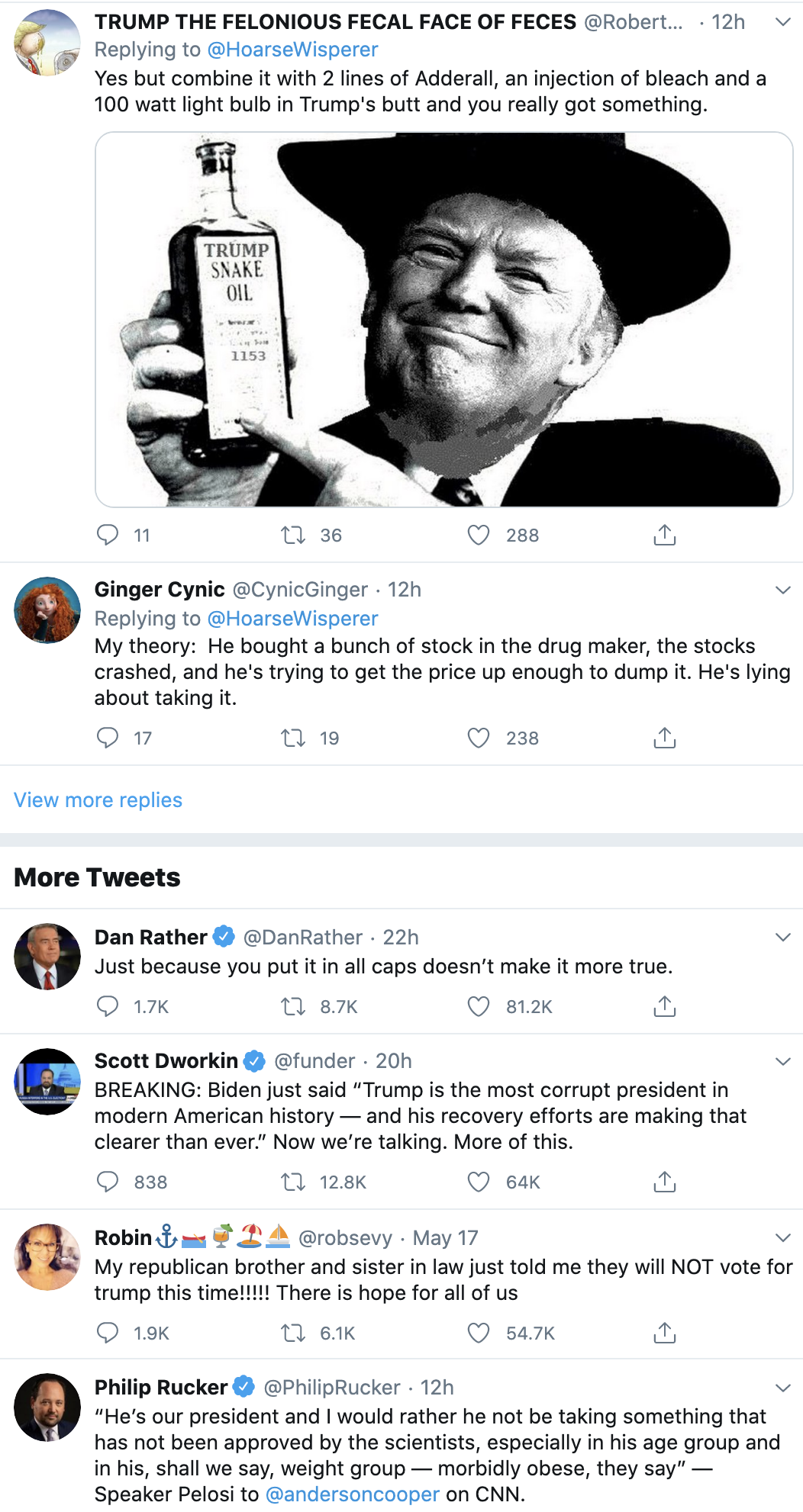 Screen-Shot-2020-05-19-at-8.10.05-AM Trump Retweets RESIST Critic & Gets Mocked Into Oblivion Coronavirus Corruption Featured Politics Top Stories