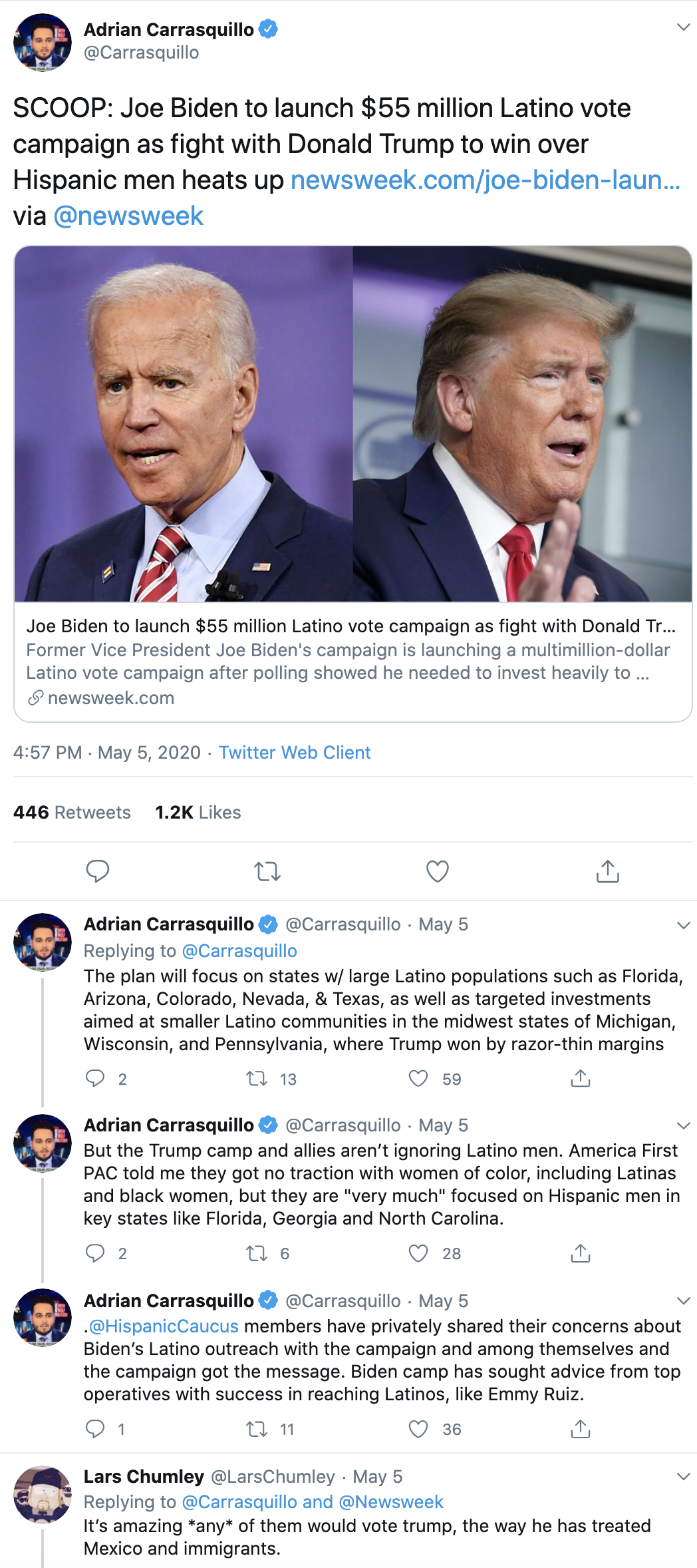Screen-Shot-2020-05-20-at-2.00.52-PM Trump Vs Biden 'Latino Voter Poll' Results Have Republicans In Panic Election 2020 Featured Politics Polls Top Stories