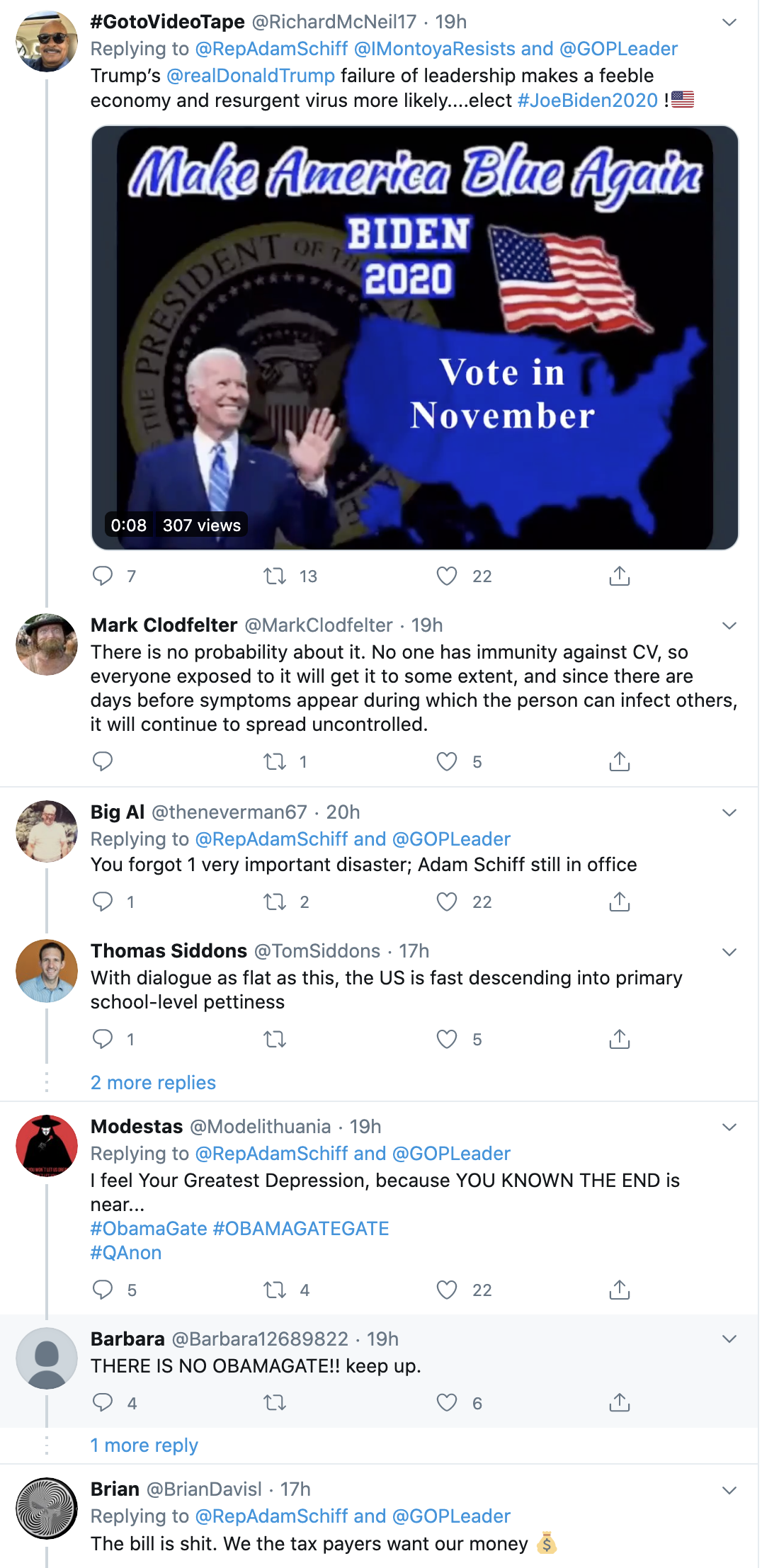 Screen-Shot-2020-05-20-at-8.09.25-AM Schiff Publicly Trolls Trump Over Failed COVID-19 Response Coronavirus Economy Election 2020 Featured Top Stories