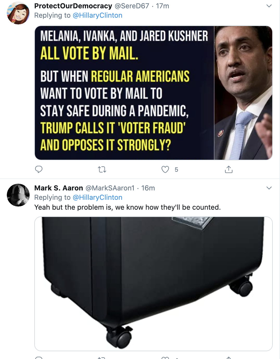 Screen-Shot-2020-05-21-at-1.05.13-PM Hillary Steamrolls Trump With Fact Check Of Vote By Mail Lies Coronavirus Election 2020 Featured Politics Top Stories