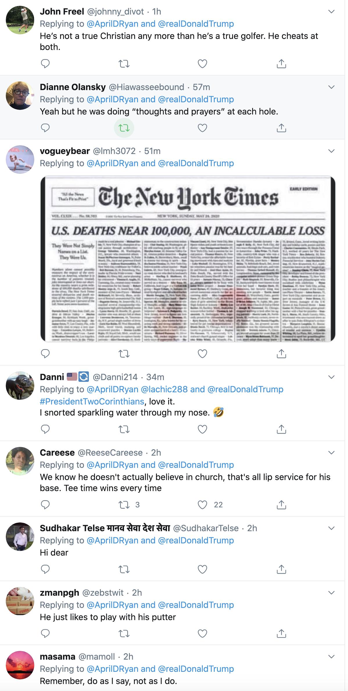 Screen-Shot-2020-05-24-at-3.18.09-PM Trump's Shameful Sunday Activities Caught On Camera Coronavirus Featured Politics Sports Top Stories