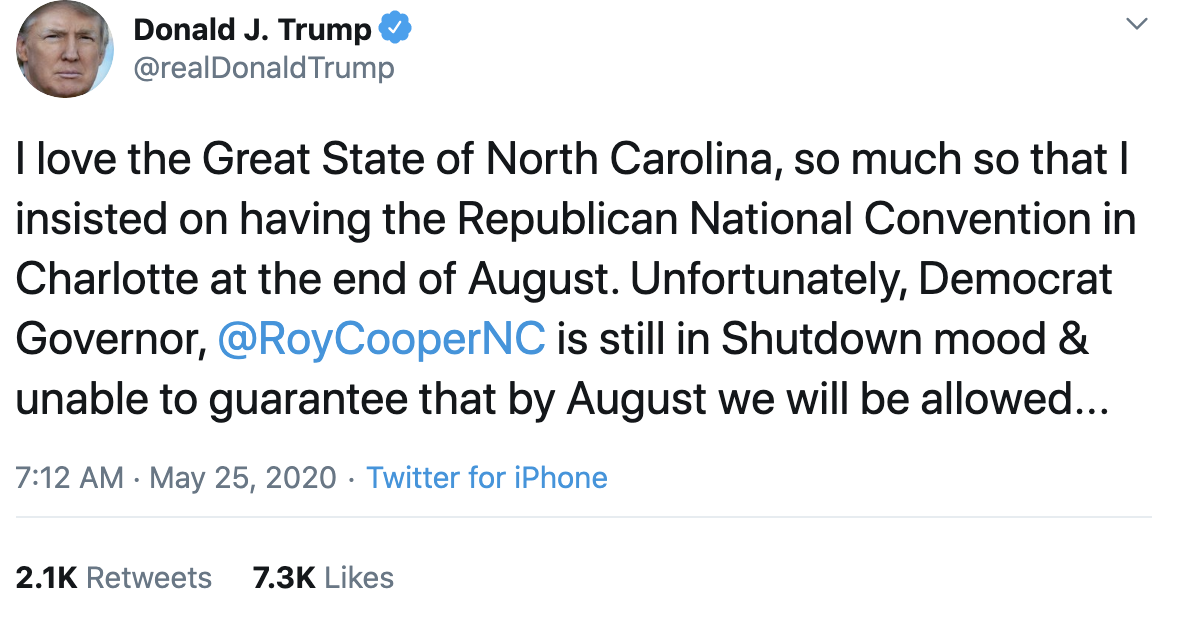 Screen-Shot-2020-05-25-at-7.28.13-AM Trump Suffers Early Morning 7 Tweet Explosion Of Insanity Coronavirus Election 2020 Featured Politics Top Stories