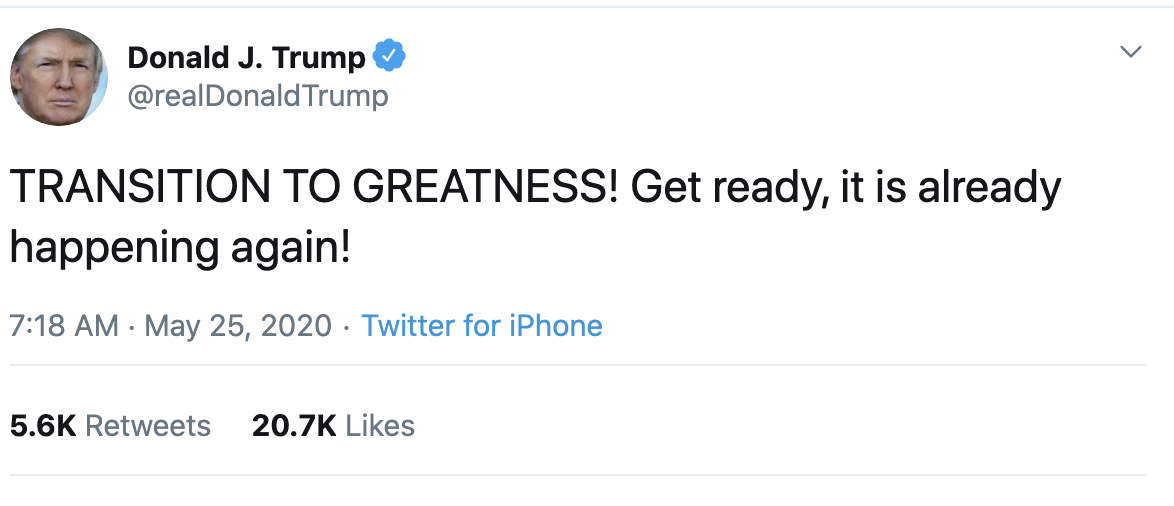 Screen-Shot-2020-05-25-at-7.39.58-AM Trump Suffers Early Morning 7 Tweet Explosion Of Insanity Coronavirus Election 2020 Featured Politics Top Stories