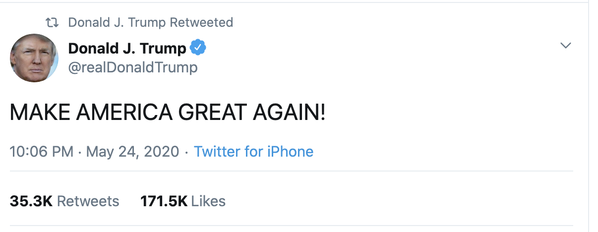 Screen-Shot-2020-05-25-at-7.43.30-AM Trump Suffers Early Morning 7 Tweet Explosion Of Insanity Coronavirus Election 2020 Featured Politics Top Stories