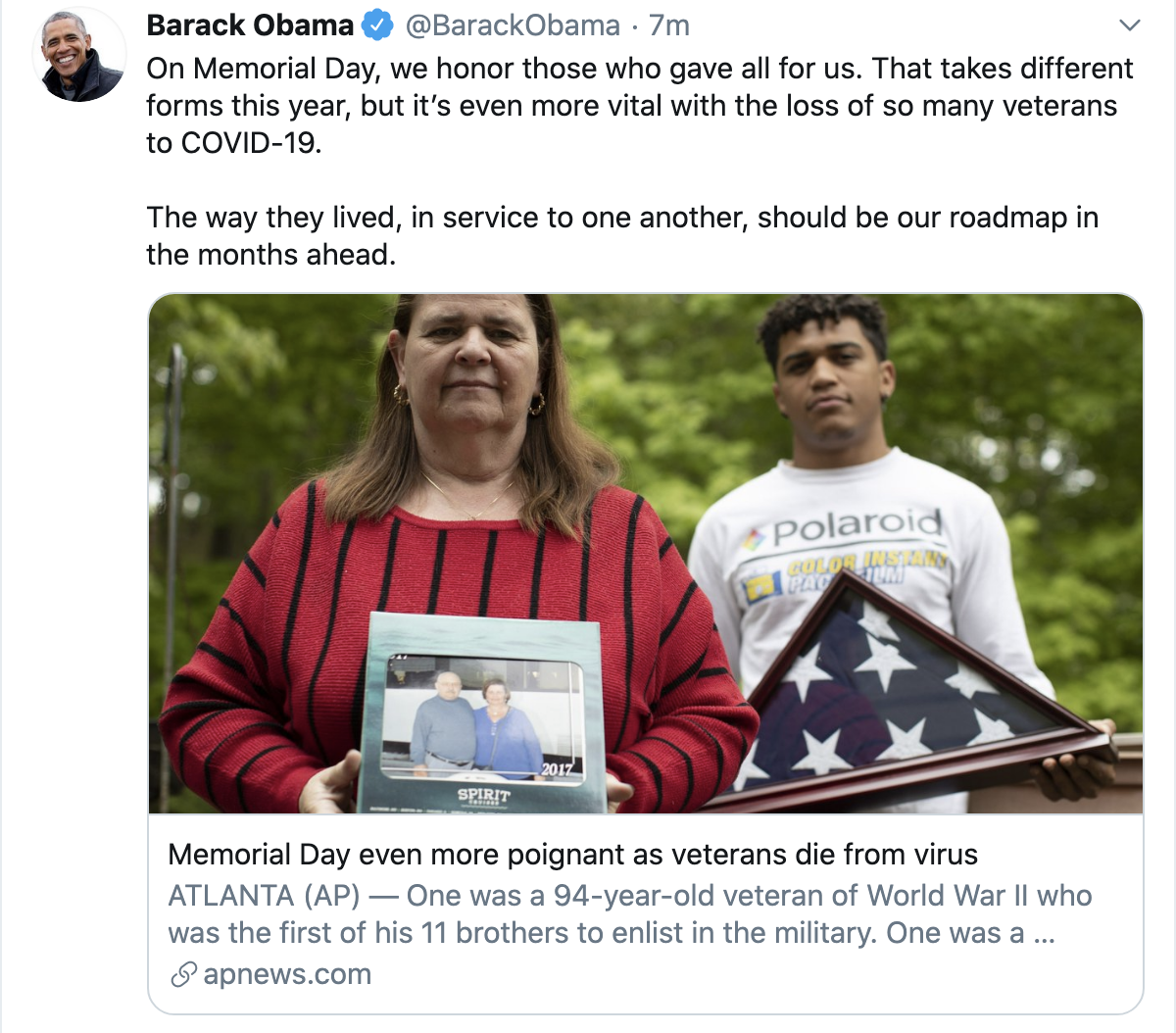 Screen-Shot-2020-05-25-at-9.38.28-AM Obama Shows Up Trump With Memorial Day Message Of Hope To America Featured History Military Politics Top Stories