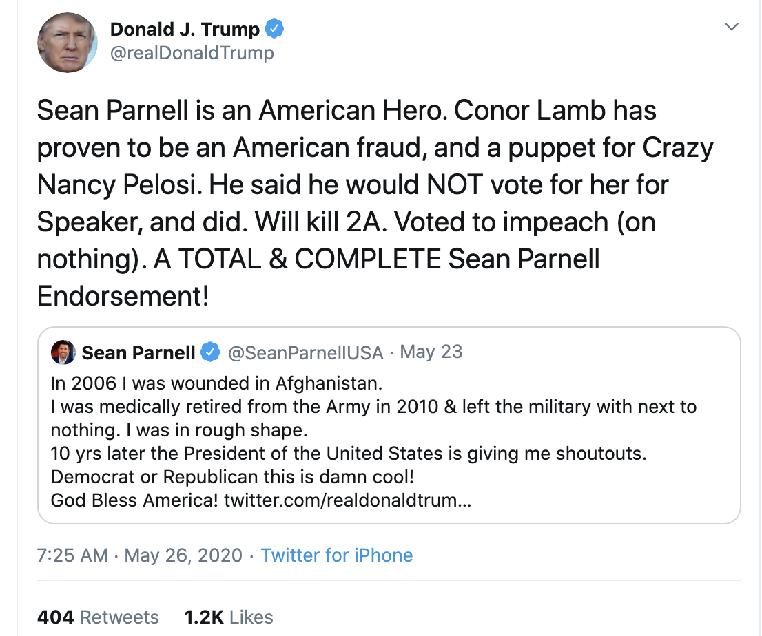 Screen-Shot-2020-05-26-at-7.27.04-AM Trump Declares 2020 Election Invalid During Pre-Dawn Mental Breakdown Corruption Featured Politics Top Stories