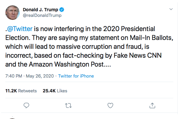 Screen-Shot-2020-05-27-at-7.28.31-PM Executive Order Against Twitter & 'Social Media' Announced By W.H. Conspiracy Theory Donald Trump Featured Politics Social Media The Internet Top Stories