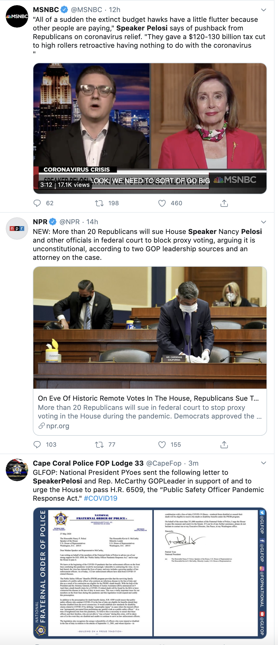 Screen-Shot-2020-05-27-at-8.49.26-AM Pelosi Rebukes Trump's Vote By Mail Lies With Wednesday Public Shaming Coronavirus Featured Military Politics Top Stories