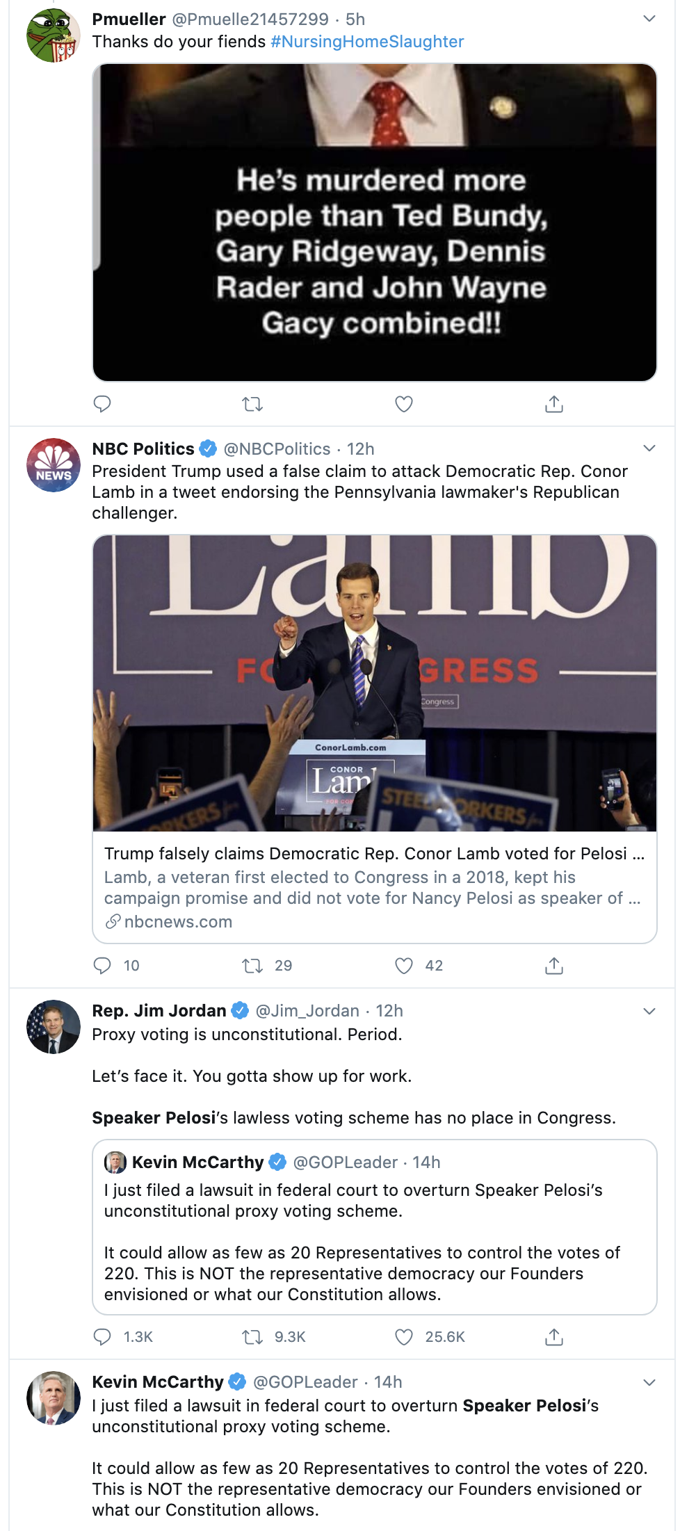 Screen-Shot-2020-05-27-at-8.50.16-AM Pelosi Rebukes Trump's Vote By Mail Lies With Wednesday Public Shaming Coronavirus Featured Military Politics Top Stories