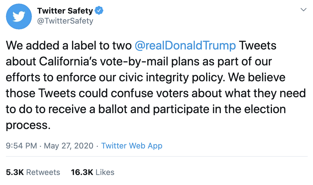 Screen-Shot-2020-05-28-at-9.01.40-AM Twitter Announces 'New Label' For Trump Fact Check That Has Donald Crazy Corruption Featured Politics Top Stories