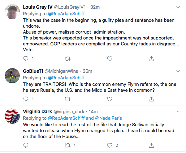 Screen-Shot-2020-05-29-at-7.17.12-PM Schiff Taunts Trump Over Michael Flynn Transcript Of Guilt Conspiracy Theory Donald Trump Featured Politics Top Stories