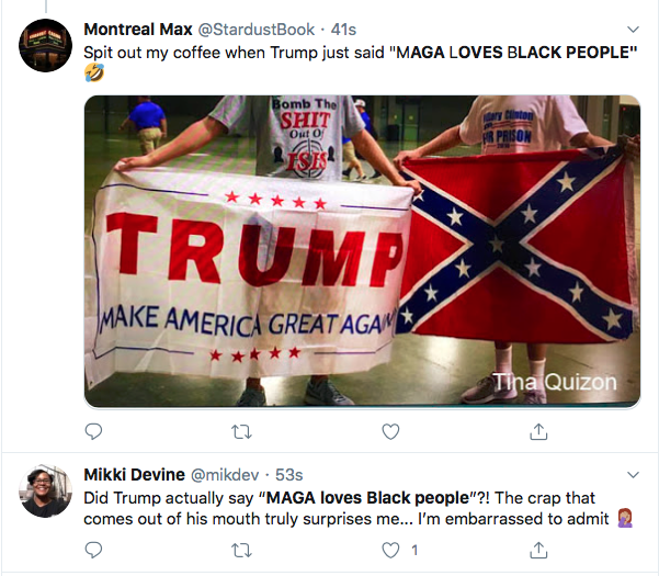 Screen-Shot-2020-05-30-at-1.04.57-PM Trump Stops On W.H. Lawn & Snarls 'MAGA Loves The Black People' Black Lives Matter Donald Trump Featured Politics Protest Racism Top Stories