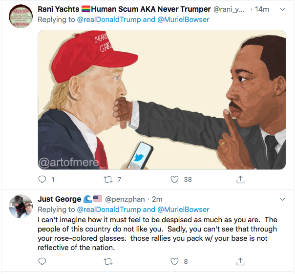 Screen-Shot-2020-05-30-at-8.58.34-AM Trump Threatens Protestors With 'Ominous Weapons' During AM Mental Collapse Black Lives Matter Donald Trump Featured Politics Protest Racism Top Stories Twitter